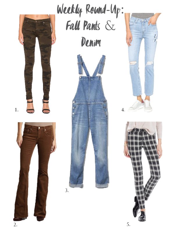 Weekly Round-Up: Fall Pants & Denim