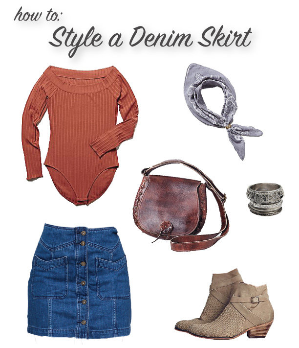 How To: Style a Denim Skirt